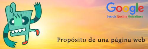 Propósito de una página web