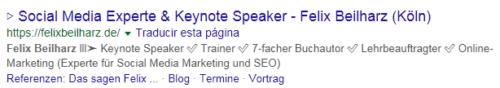 ¿Cómo destacar en el resultado de búsqueda con un emoji en la descripción?
