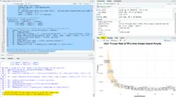 Resultado de la ejecución del código R en RStudio CTR Google Search Console