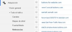 Ejemplos de Spam de Referencias en Google Analytics
