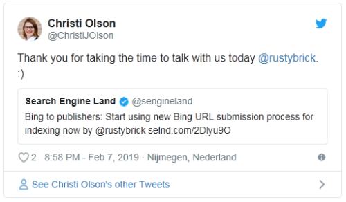 """Bing a los que publican contenido: Empezar a usar """"Enviar direcciones URL"""" para enviar las URLs."""