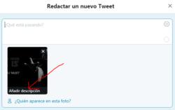 Añadir texto alternativo describiendo el contenido de las fotos en Twitter 01
