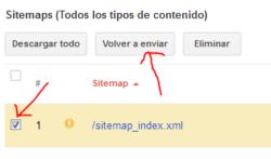 Volver a enviar SITEMAP para desindexación más rápida de páginas AMP
