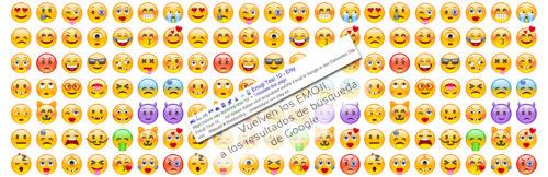 Vuelven los Emoji a los resultados de búsqueda
