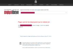 Archive.org Wayback Machine: Web eliminada